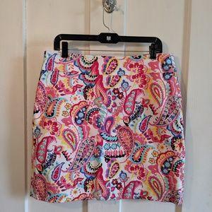 *NWT* Paisley Talbots Petites skirt, sz 12P